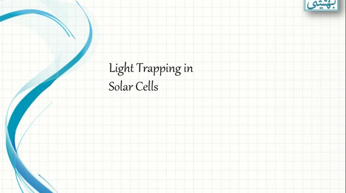 Light Trapping In Solar Cells
