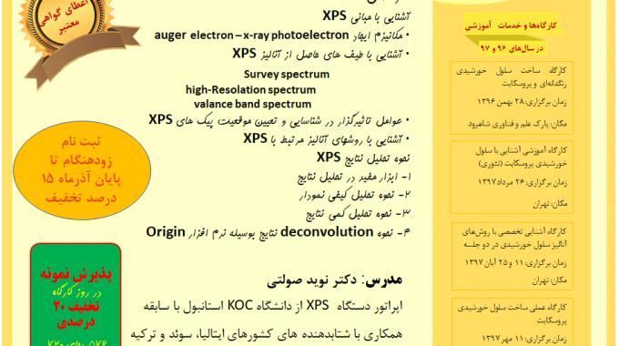 کارگاه آموزشی تحلیل آنالیز XPS